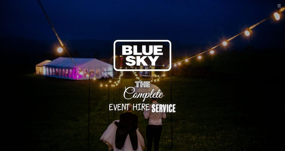 Blue Sky website homepage 2020