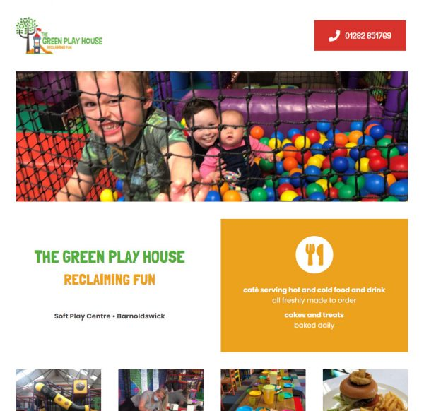 The Green Play House homepage June 2021