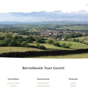 barnoldswick town council website homepage 2020