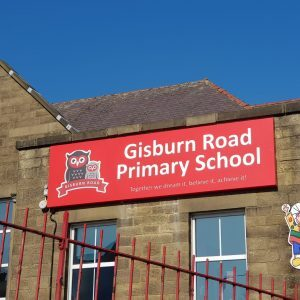 gisburn road school sign