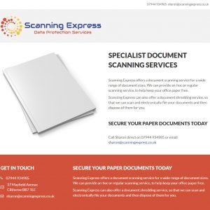 scanning express homepage 2018