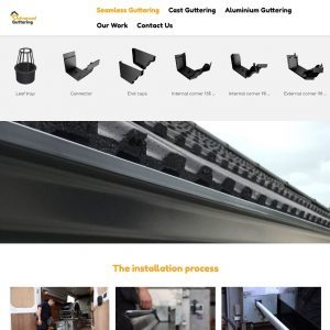 Advanced Guttering website