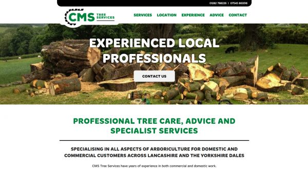 CMS Tree Services website