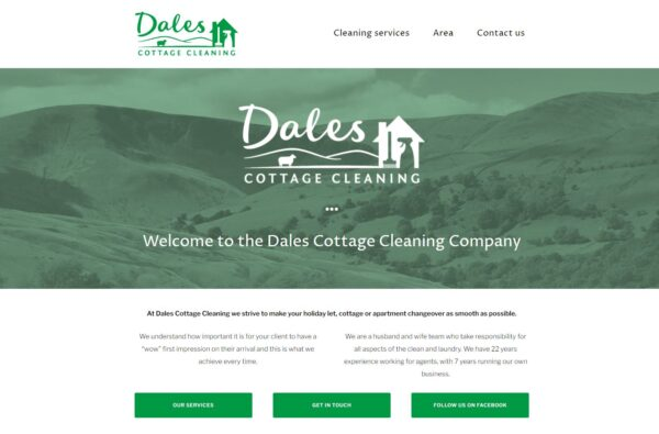 dales cottage cleaning company website 2017