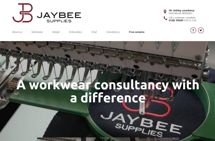 Jaybee Supplies website