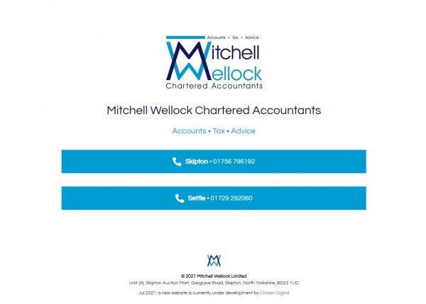 mitchell wellock homepage temporary July 2021