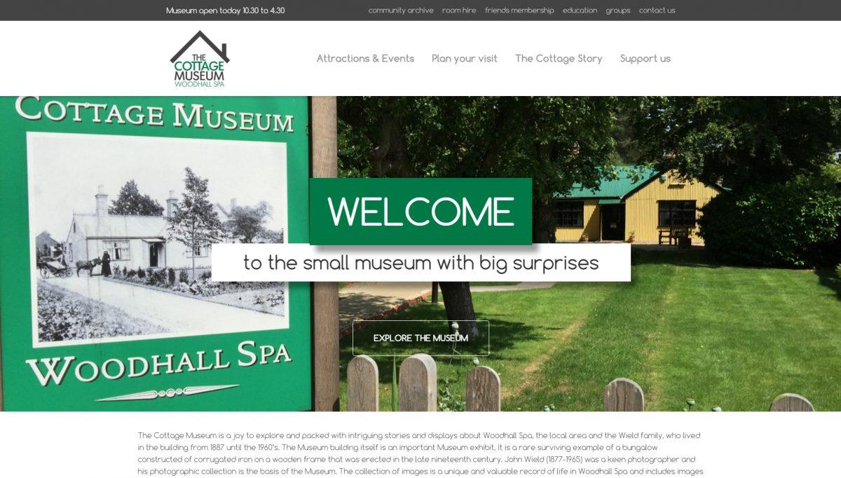 Cottage Museum website