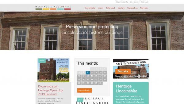 Heritage Lincolnshire website